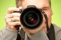 Photographer with camera Royalty Free Stock Photos