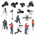 Photographer Isometric Set