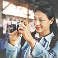 Photographer photography photograph travel trip concept Stock Photos