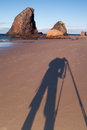 Photographer shooting on assignment a shoots glasshouse rocks beach near narooma nsw australia Royalty Free Stock Photography