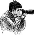 Photographer vector drawing of the at work Stock Photos