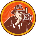 Photographer vintage camera Royalty Free Stock Images