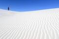 Photographer on White Sand Dunes Royalty Free Stock Photo