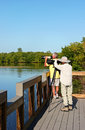 Photographer at wildlife refuge sanibel fl december photographers ding darling Stock Images