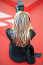 Photographer at work on the red carpet at th venice film festival on september in venice italy Stock Images
