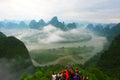Photographers on the mountain Royalty Free Stock Photo