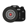 Photographic camera device isolated icon