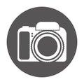 Photographic camera isolated icon