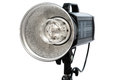 A photographic flash modern powerful on white background Royalty Free Stock Photography