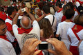 Photographing the sanfermines. Stock Images
