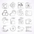 Photography and camera function icons vector icon set Royalty Free Stock Image