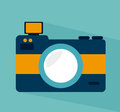 Photography design over blue background vector illustration Royalty Free Stock Image