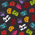 Photography design over dark background vector illustration Royalty Free Stock Photo