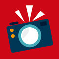 Photography design over red background vector illustration Royalty Free Stock Images