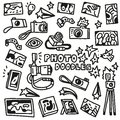 Photography doodles this is file of eps format Stock Photography