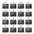 Photography equipment icons vector icon set Stock Photography