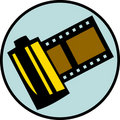Photography film roll or reel. Vector available Stock Image