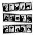 Photography filmstrip Stock Image