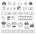 Photography icon set in format on white background Stock Image