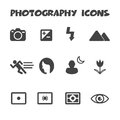 Photography icons mode mono vector symbols Stock Images