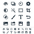Photography icons simple clear and sharp easy to resize no transparency effect eps file Royalty Free Stock Photography