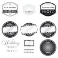 Photography logo set vector and wedding Royalty Free Stock Images