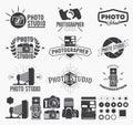 Photography and photo studio logo