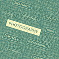 Photography word cloud illustration tag cloud concept collage Stock Photography