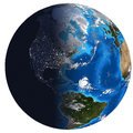 Photorealistic Earth. Day and night Stock Image