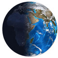 Photorealistic Earth. Day and night Royalty Free Stock Photography