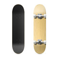 Photorealistic skateboard illustration face and back Royalty Free Stock Photo