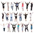 Photos of excited people Royalty Free Stock Images