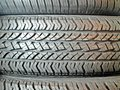 These are photos of new tubeless tyres on the show they are virtually manufactured from natural rubber however these pattern Royalty Free Stock Photo