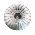 Photostudio equipment lighting large silver umbrella Stock Photos