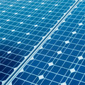 Photovoltaic cells and sunlight background Royalty Free Stock Photo