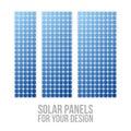 Photovoltaic electric solar Panel Patterns Set