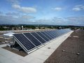 Photovoltaic installation top roof Stock Photography