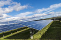 Photovoltaic panels to produce electricity from sun Royalty Free Stock Photos