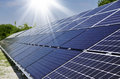 Photovoltaic solar modules for producing electricity Stock Image