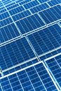 Photovoltaic solar panels for renewable electrical energy production Royalty Free Stock Photo