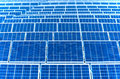Photovoltaic solar panels for renewable electrical energy production Stock Image