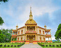 Phra that khong santi chedi pagoda luang pra bang laos vatpa phonphao temple Royalty Free Stock Photography