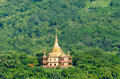 Phra that khong santi chedi pagoda luang pra bang laos view of vatpa phonphao temple Royalty Free Stock Photo