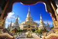 Phra maha chedi chai mongkol at roi et province thailand he or the great victorious and auspicious pagoda is one of the largest s Royalty Free Stock Photo