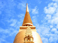 Phra maha chedi the pagoda has a circular shape with square base and meters height Stock Image