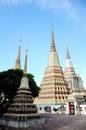 Phra Maha Chedi at Wat Pho, Bangkok. Royalty Free Stock Photography