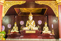 Phra maha jakkraphat statue in ubosot wat raja mon thian chiangmai thailand Royalty Free Stock Photography