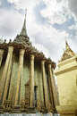 PHRA MONDOP or library houses at Wat Phra Kaew or The Emerald Buddha in Bangkok, Thailand Royalty Free Stock Photo
