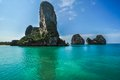 Phra nang beach thailand krabi province panoramic picture in asia Stock Photography