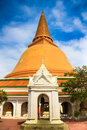 Phra pathom chedi of nakhon pathom thailand wat in blue sky the tallest stupa in the world it is located in province Royalty Free Stock Photos